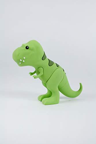 Mojipower Externer Akku für Handy, Powerbank 2600 mAh, lustig, bunt, Design, Form Dino, Dinosaurus, T-Rex