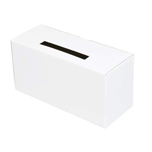 募金箱(底ロックタイプ)【白】 100枚セット (ダンボール 段ボール 紙箱 ボックス 紙)