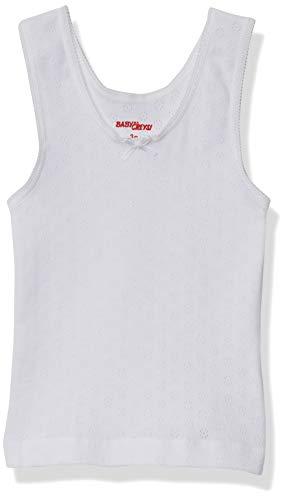 Baby Creysi 00250 NPF Camiseta de Tirantes para Niñas, Color Blanco, 2 Años