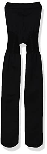 Pretty Polly Women's Suspender Tight, Black (Black), One Size