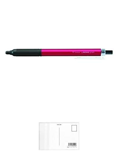 トンボ鉛筆 モノグラフライト038 油性ボールペン ボール径:0.38mmピンク BC-MGLU81 【× 2 個 】 + 画材屋ドットコム ポストカードA