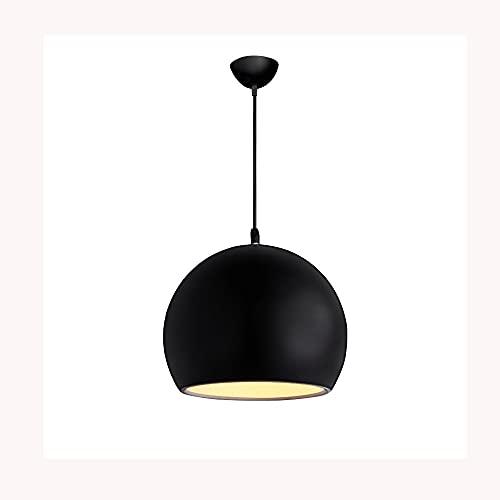 Comedor Globe Globe Light, lámpara esférica de aleación de aluminio Lámparas de suspensión corporal, accesorio de iluminación E27, Moderno Minimalista Cocina Isla Luces para colgar ( Color : Negro )