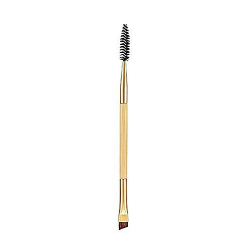 1pc Bamboo poignée Duo brosse à sourcils Sourcil et brosse Mascara brosse à sourcils Pen maquillage cosmétiques outil Sourcils peigne Outils de maquillage pour les filles de femmes