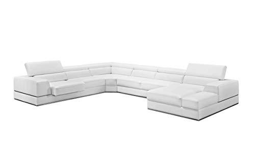 Limari Home Polo Sectional Sofa White 1
