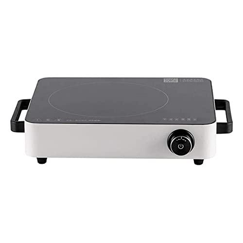 Portátil eléctrica Placa de inducción 2200W de alta potencia de la olla de onda de luz de alta potencia Mini cocina de inducción utilizada en utensilios de cocina de cocina adecuados, como la olla de