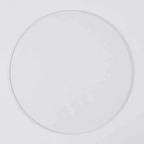 Placa de vidrio de borosilicato redondo de 220 mm de diámetro y 3 mm de grosor, para impresora 3D Delta/Kossel