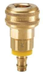 Parker B30-5BP Valved Tampa Mall Pneumatic Quick Push-Lok Coupler 8 Manufacturer direct delivery Brass 3