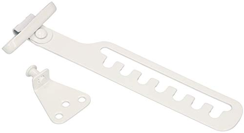 KOTARBAU® Kipp-Regler für Fenster Fensterfeststeller Zuschlagschutz Fensterriegel zum Einstellen der Fensteröffnung Fensterstopper Kippschere Weiß