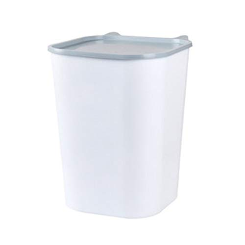 CSDY-Caja De Almacenamiento De Plástico para Alimentos para Animales (PP) con En La Tapa para El Volumen De Alimentos Secos 6 Kg, Blanco