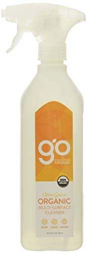 GO by greenshield organic, USDA Certified Organic 26 oz. Multi-Surface Cleaner- Citrus Grove