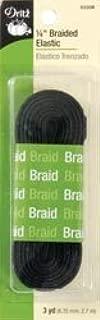 Dritz Bulk Buy Braided Elastic 1/4 inch x 3 Yards Black (3 Pack)
