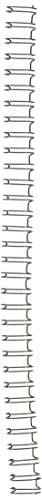 "GBC WireBind Binding Spines / Spirals, 3:1 Pitch, 3/8"", 75 sheet capacity, Black, 100 Pack (9775018G)"