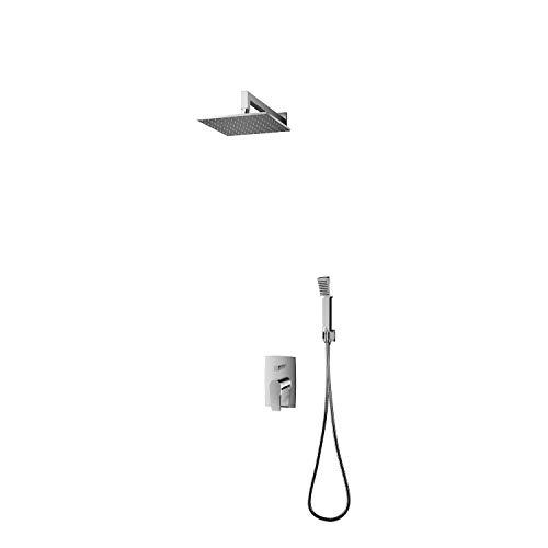 Omnires TK104-PLUS-3.43+64-SBL Badewanne Ablaufgarnitur mit /Überlauf Komplettset Siphon Schwarz