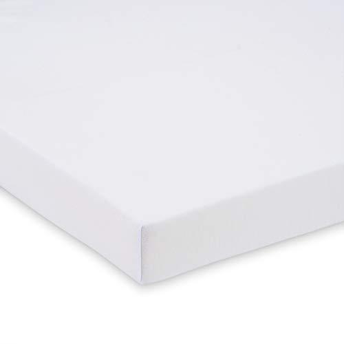 FabiMax BIO-Baumwolle Jersey Spannbettlaken für Beistellbett und Wiege, 90 x 55 cm, weiß