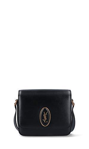Luxury Fashion | Saint Laurent Woman 61710202G0W1000 Black Leather Shoulder Bag | Season Permanent
