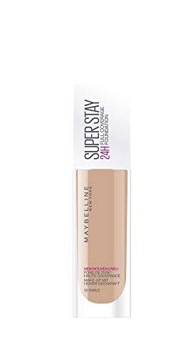 Maybelline Superstay 24H Foundation 30 Sand Frasco dispensador Líquido - base de maquillaje (Sand, Piel mixta, Piel seca, Piel normal, Piel grasosa, Piel sensible, Frasco dispensador, Líquido, Natural, 24 h)
