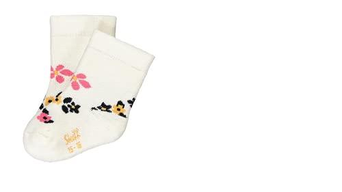 Steiff Baby Vollfrottee Socken, ecru geblümt L002011907 gr.15/16(68)