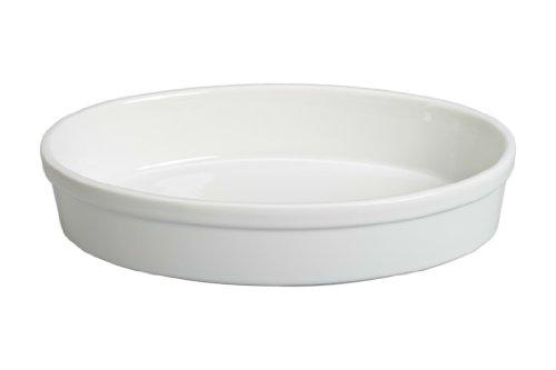 BIA Cordon Bleu 904858 Porcelain Oval Baking Dish, 15-Inch, White