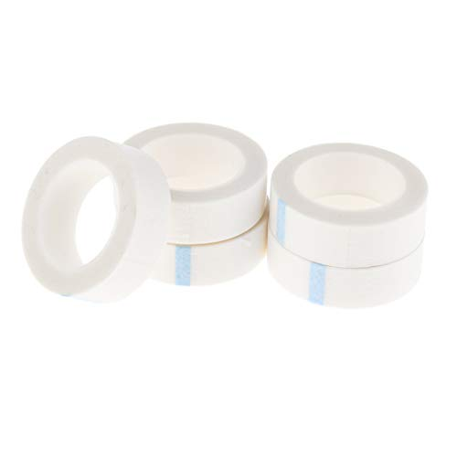 Toygogo 5 Rouleau Ruban Cils Adhésifs Rallonge de Cils Micropore Respirants Tissus Non Tissés