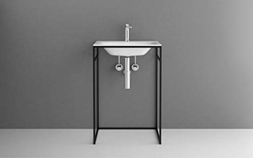 Bette Lux Shape Waschtisch-Gestell für Einbau-Waschtisch, Q010 600x495x890 mm, Farbe: Weiß Feinstruktur matt