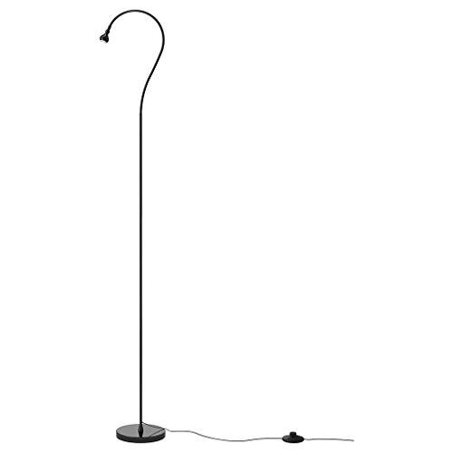 Staande lamp LED-vloerlamp/leeslamp zwart LED