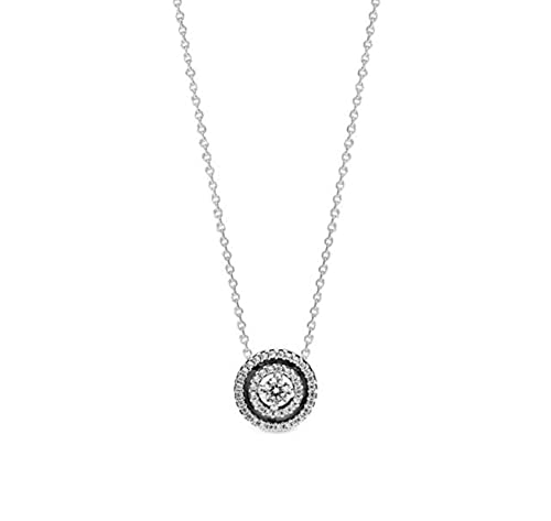 TTGE Real Infinite Knot Sliding 925 Sterling Silver Pan Necklace for Fashion Charm Charm DIY Jewelry