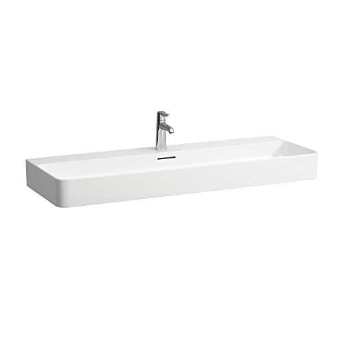 Laufen VAL Möbel-Waschtisch, ohne Hahnloch, mit Überlauf, 1200x420, weiß, Farbe: Weiß mit LCC