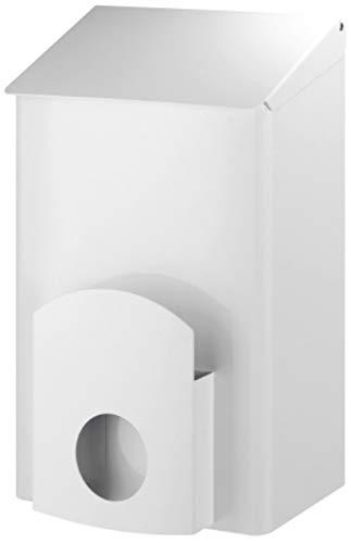 POV GmbH Hygienebehälter + Hygienebeutelhalter 7 Liter Edelstahl Weiß