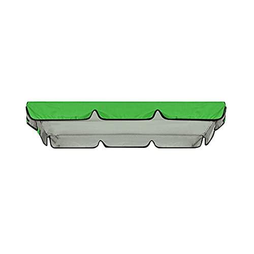LGLG Techo de repuesto para toldo – Funda universal para columpio de jardín, 164 x 114 x 15 cm, resistente al agua y a los rayos UV, columpio de jardín para adultos