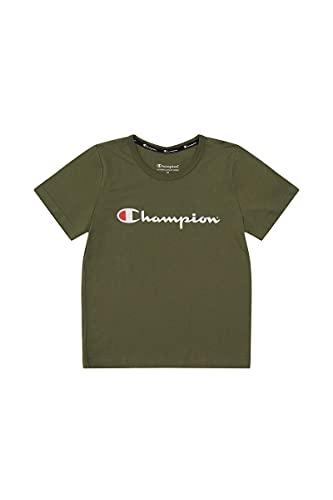 Champion Kids Script Tee, Moss Fuzz, 4