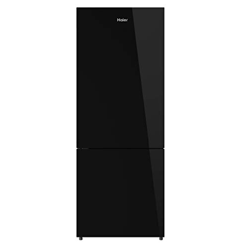 Haier 320 L 2 Star Inverter Frost-Free Double Door Refrigerator (HRB-3404PBG-E, Black Glass, Bottom...