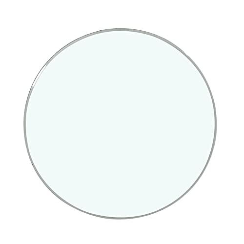 Cristal Redondo Tablero De Mesa - Vidrio Templado,Protege El Escritorio, Fuerte Capacidad De Carga Ø58cm•60cm•65cm•68cm•70cm Mesas De Patio,Grosor: 9 Mm Transparente (Size : Ø38cm(15in))