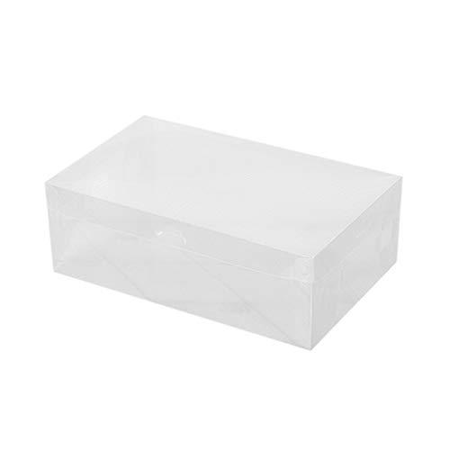 YKSO Cajas de zapatos de plástico PP Organizador de almacenamiento universal apilable ahorro de espacio tipo cajón caja para zapatillas sandalias zapatos deportivos