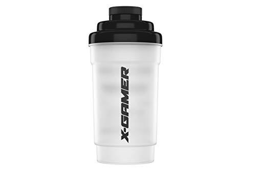 X-Gamer - Shaker + X- Shotz - Energy Drink - Poudre Booster - Energy Drink - Shake It Yourself (Shaker transparent + 4 X Shotz)