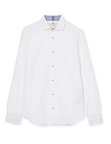 JACK & JONES Herren JPRBLASUMMER Milano Shirt L/S SU20 Hemd, White, XXL