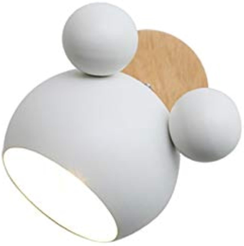 Wandleuchte Holzsockel E27 Sockel Nachtlicht Kinder Wand Leseleuchte Mdchen Dekoration Lampe, Weiß