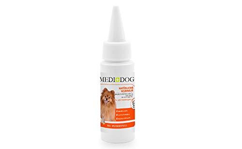 Medidog Natürliche Wurmkur für Hunde, bei Wurmbefall, Giardien, flüssige Wurm-Tropfen auch für Katzen, Vögel, Hühner geeignet
