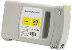 Ink & Toner Spot Remanufactured Inkjet Replacement for HP C4848A, 80, Works with: DesignJet 1000, 1050, 1055 SeriesDye (Yellow)