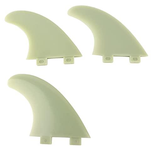 KUIDAMOS 3 Aletas de Cola de Tabla de Surf, Flexibles y estables, reforzadas con Fibra de Vidrio