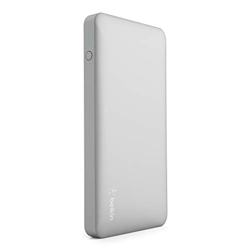 Belkin Pocket Power Bank 10000 mAh Externer Akku (zertifizierte Sicherheit, für iPhone 11, 11 Pro/Pro Max, X, XS, XS Max, XR, SE, 8 , 8+, 7, iPad, Samsung Galaxy S10, S10+, S10e) silber