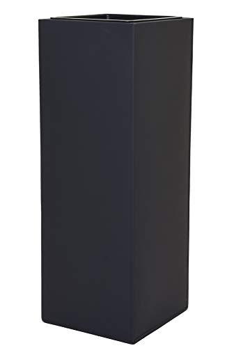 Vivanno Pflanzkübel Blumenkübel Zink Metall Anthrazit Block 65 mit Einsatz