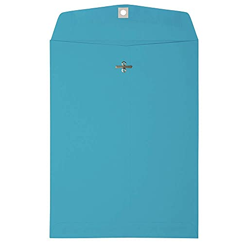 JAM PAPER 9 x 12 Colored Envelopes with Clasp Closure - Blue - 100/Pack