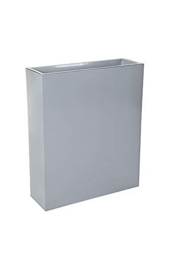VIVANNO Pflanzkübel Raumteiler Sichtschutz Premium Stahlblech Grau ELEMENTO 75x90x25