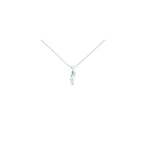 Catenina girocollo Miluna con ciondolo Trilogy e Diamanti Naturali 0.027ct in oro bianco 18kt CLD2225