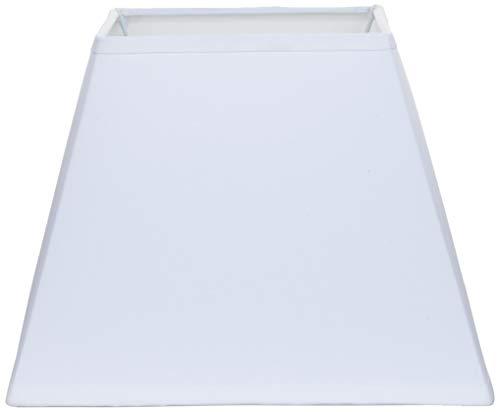 Better & Best Pantalla de lámpara de algodón, cuadrada, de 30 cm, lisa, color blanco