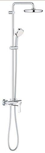 Grohe Tempesta Cosmopolitan 210 - Sistema de ducha con grifo monomando, alcachofa de 210mm y teleducha de 100mm con doschorros (Ref.26224001)