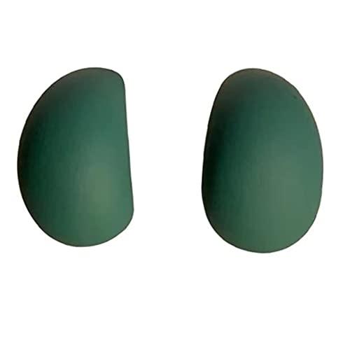 Lanchamp Pendientes para mujer plata 925 aguja anillo exquisito verde pequeño mate mate mate pendientes Stud ins estilo Nice Jewellery para niñas retro artístico