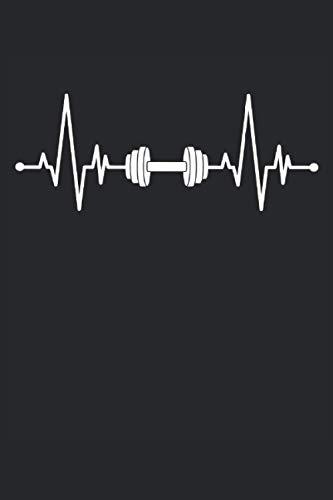 Hantel Kurzhantel Herzschlag EKG Fitness Home Gym Workout: NOTIZBUCH - Lustiges Herzschlag Kurzhantel Fitness Design - A5 (6x9) - 120 Seiten - KARIERT ... Geburtstag, Gedanken, Idee, Trainingsplan
