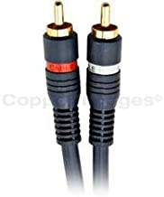 100' Python Gold Stereo Audio Cable 2 RCA to 2 RCA