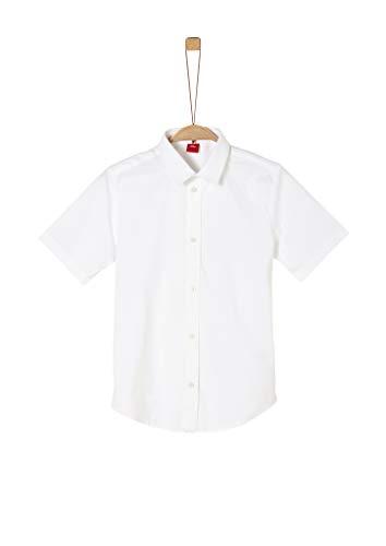 s.Oliver Junior Jungen 402.12.002.11.120.1278967 Hemd, Weiß (White), L/Slim
